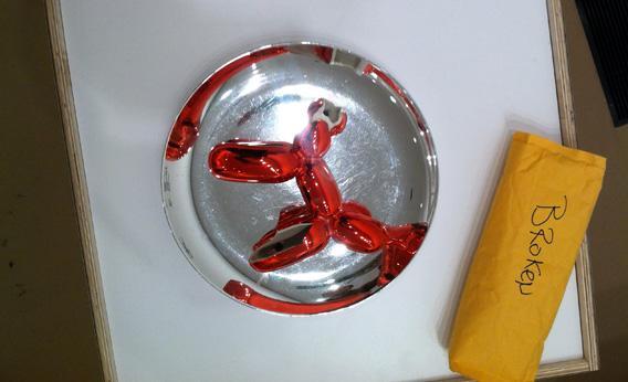Broken Jeff Koons Balloon Dog