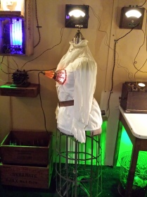 This was one of the first artworks in the space. It was an installation about harnessing the electric energy stored inside the body as sexual energy and using that to light up a room