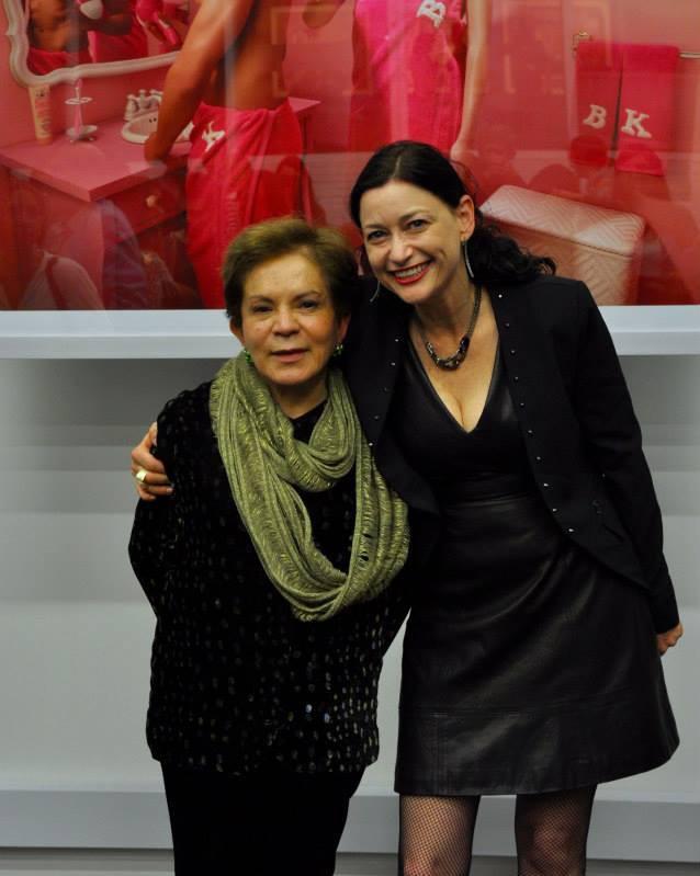 Gilma Suarez and Dina Goldstein @ Dina's opening