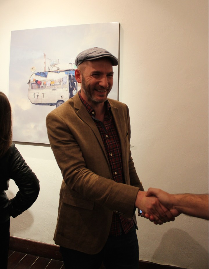 Laurent Chéhère at his exhibition