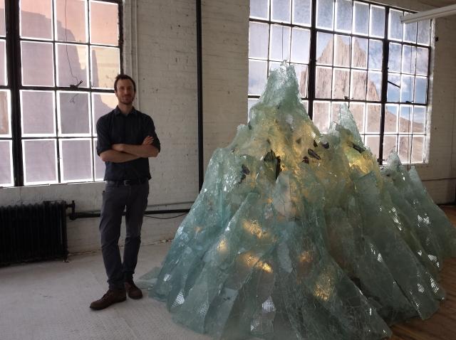 Andrew Erdos in one of his studios