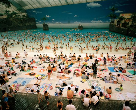 "Martin Parr, ""The Artificial beach inside the Ocean Dome (Miyazaki, Japan)"", 1996"