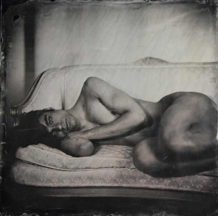 Unique, glass plate portraits by American photographer Robyn Hasty at Pioneer Works