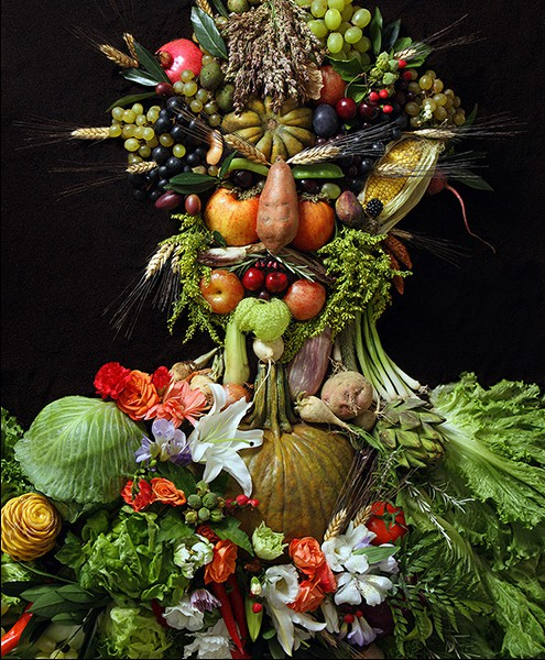 "Klaus Enrique's photographic rendition of Arcimboldo's ""Vertumnus"""