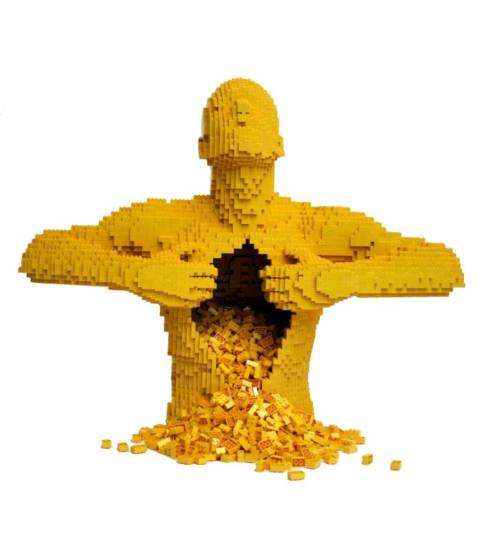 """Nathan Sawaya, """"Yellow"""", Legos"""