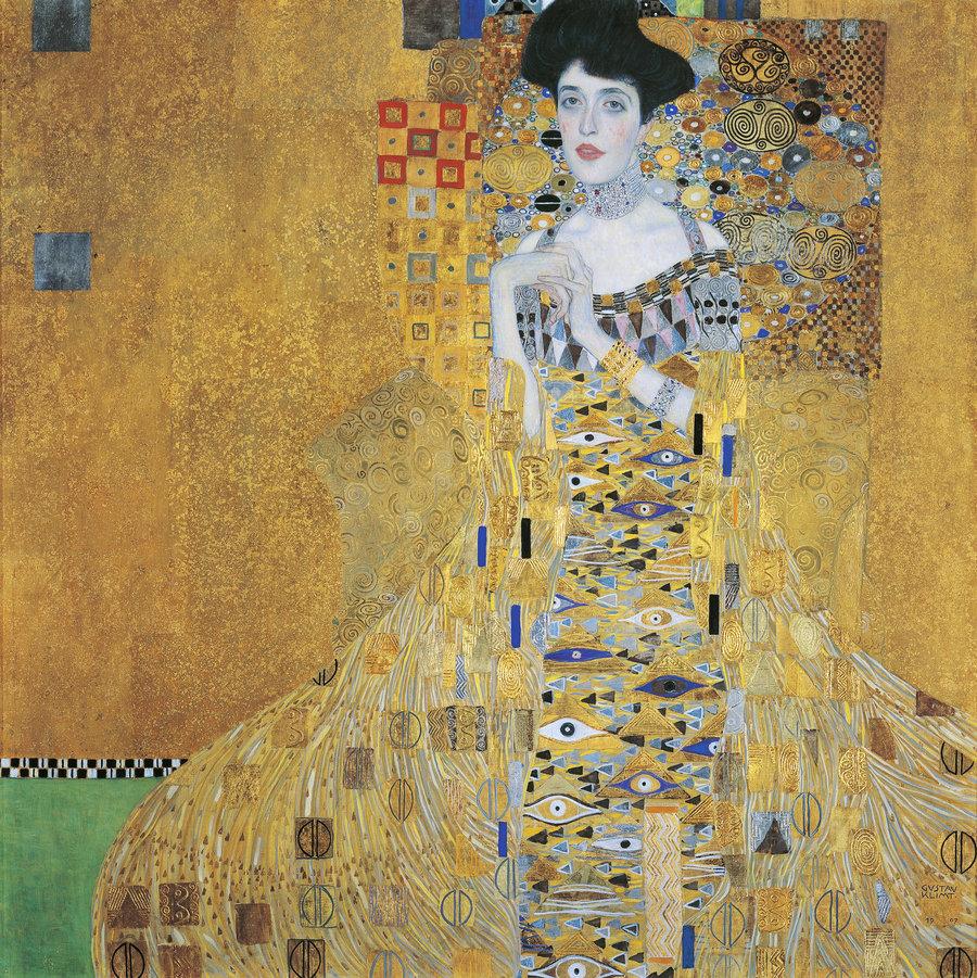 Gustav Klimt, Portrait of Adele Bloch‑Bauer I, Oil, silver, and gold on canvas