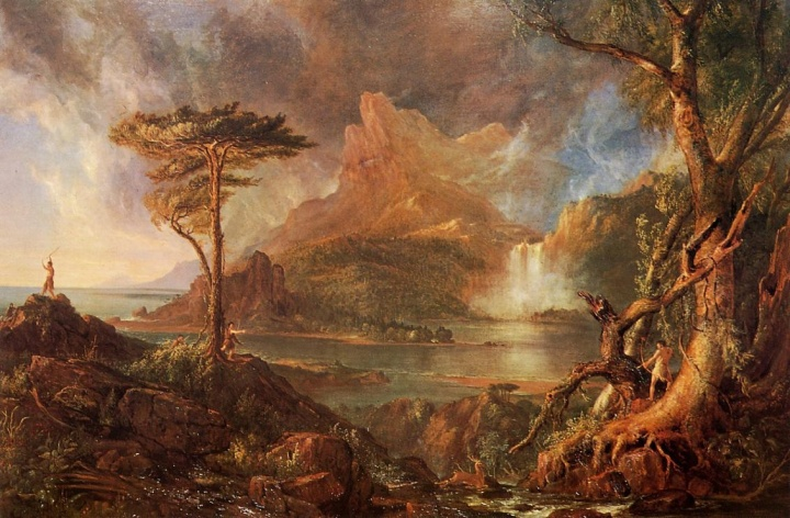 "Thomas Cole, ""A Wild Scene"", oil on canvas, 1832"