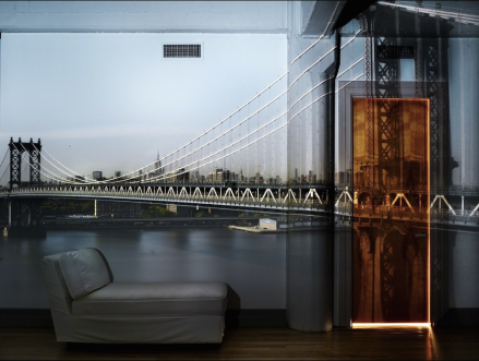 "Abelardo Morell, ""Camera Obscura: View of the Manhattan Bridge, April 30th, Afternoon"", 2010 @Edwynn Houk Gallery"