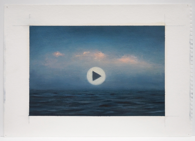 Adam Straus: This Is Not A Video, 2015 oil on paper 11 x 15 in. 28 x 38 cm.