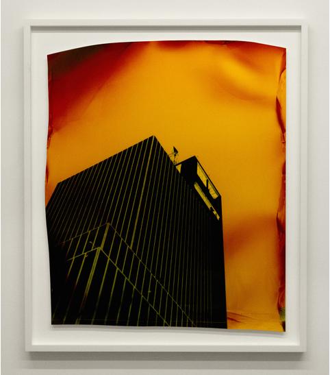 John Chiara, W54th and 10th Ave, Variation 3, 2015, Negative Chromogenic Photograph 34 × 28 in 86.4 × 71.1 cm @Yossi Milo